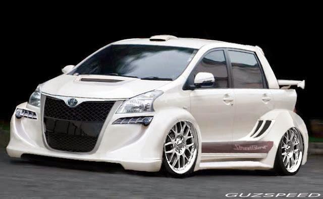 Modifikasi mobil Toyota Avanza White Wide