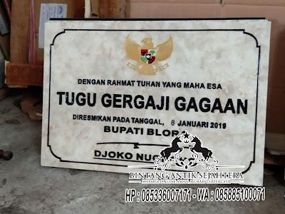 Prasasti Marmer Surabaya, Marmer Prasasti Peresmian, Harga Prasasti Marmer Surabaya