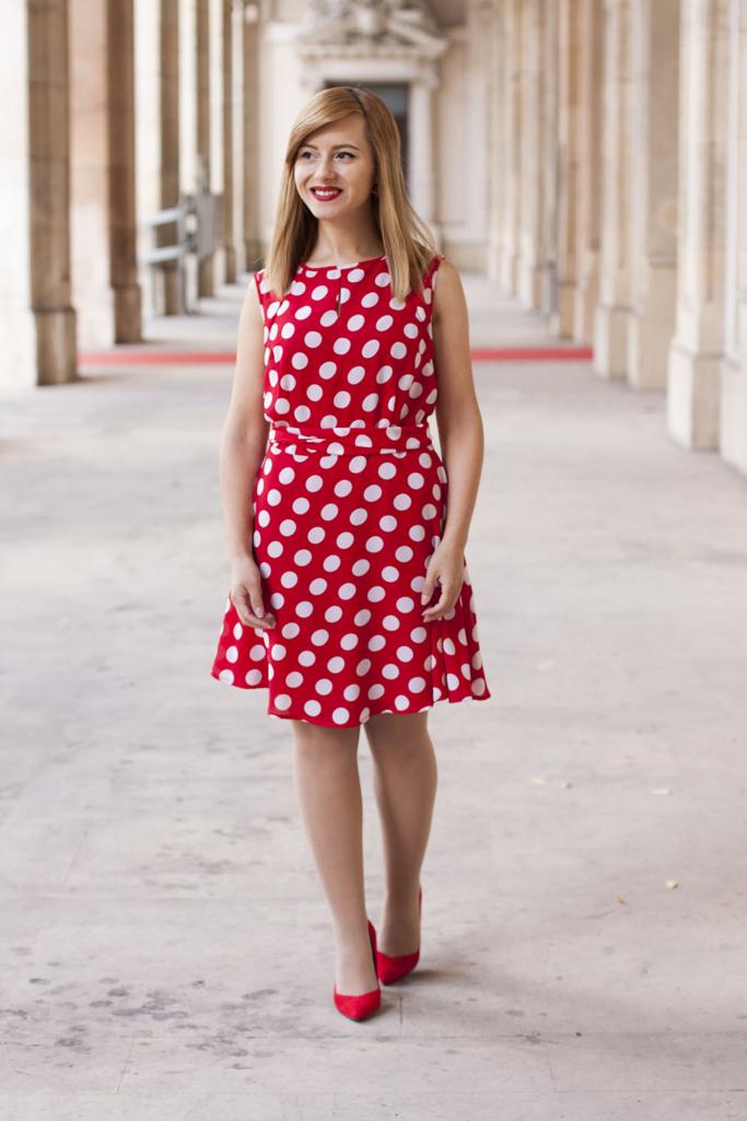the red polkadot dress