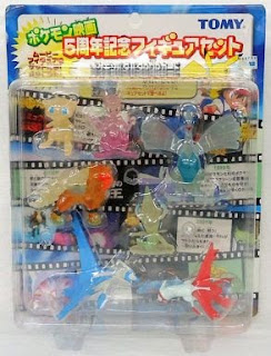 Pokemon figure Tomy Monster Collection 2002 Movie 5th Anniversary Set