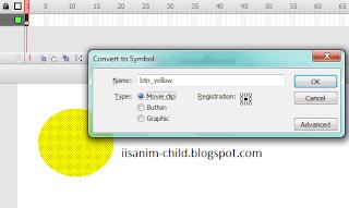 Membuat tombol Movie clip pada adobe flash cs3