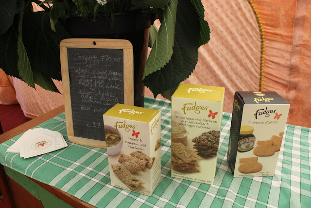 Fudges, my favourite cheese biscuits, happen to come from Dorset. They adorned the cheese boards.