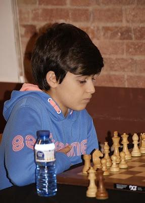 El joven ajedrecista Llibert Céspedes i Llaverias