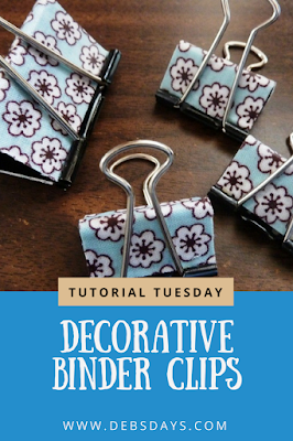 Decorative Fabric Covered Binder Clips Made with Mod Podge Craft Project