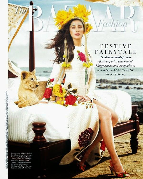 Nargis Fakhri in Harper Bazaar Bride Magazine Issue