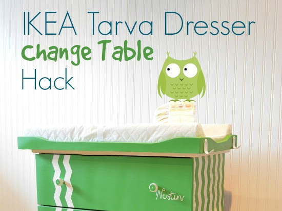 IKEA Tarva Change Table Hack {and a baby shower}