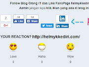 Memasang Widget Reaction diBlogspot
