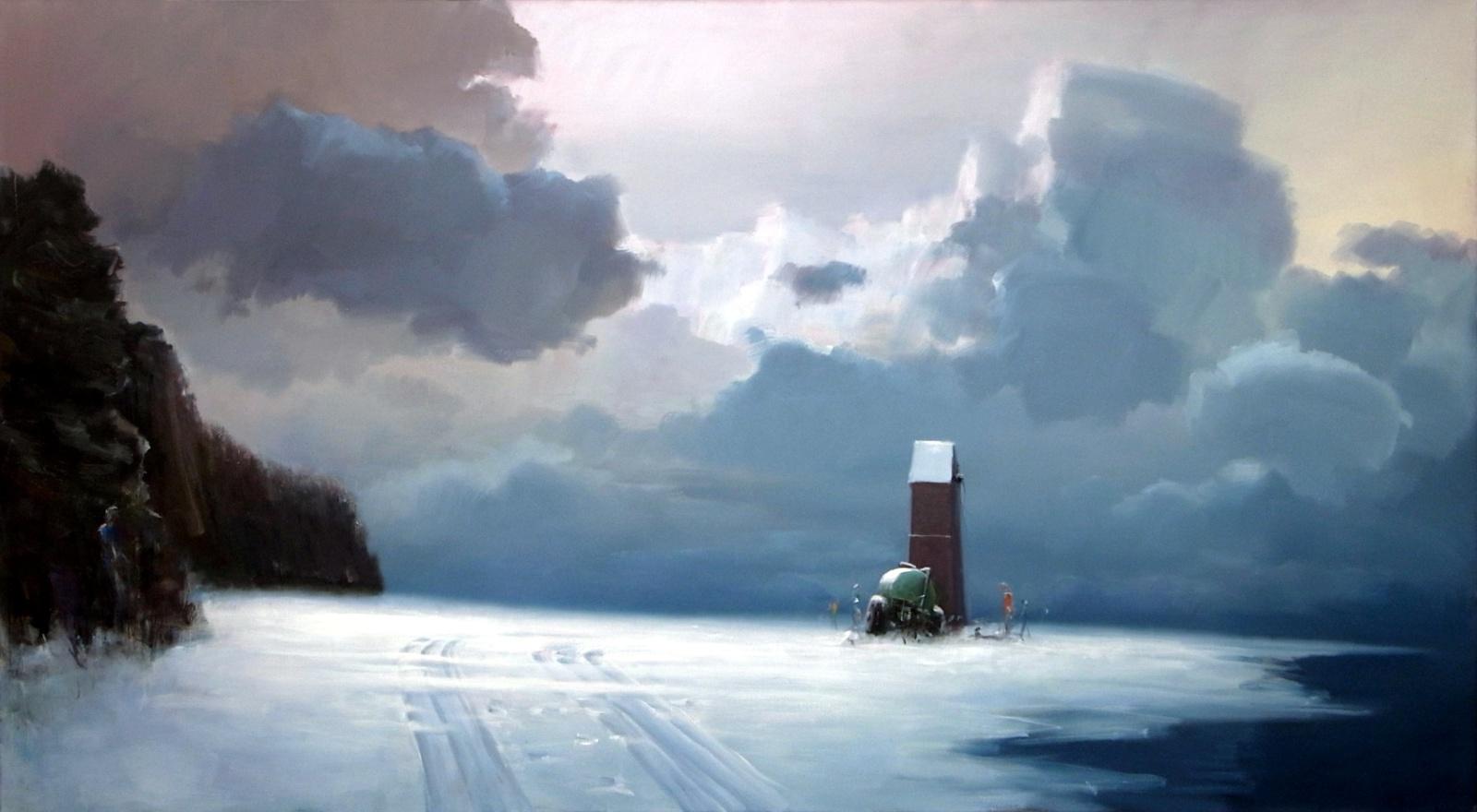 exposition art blog poul anker bech surreal landscapes