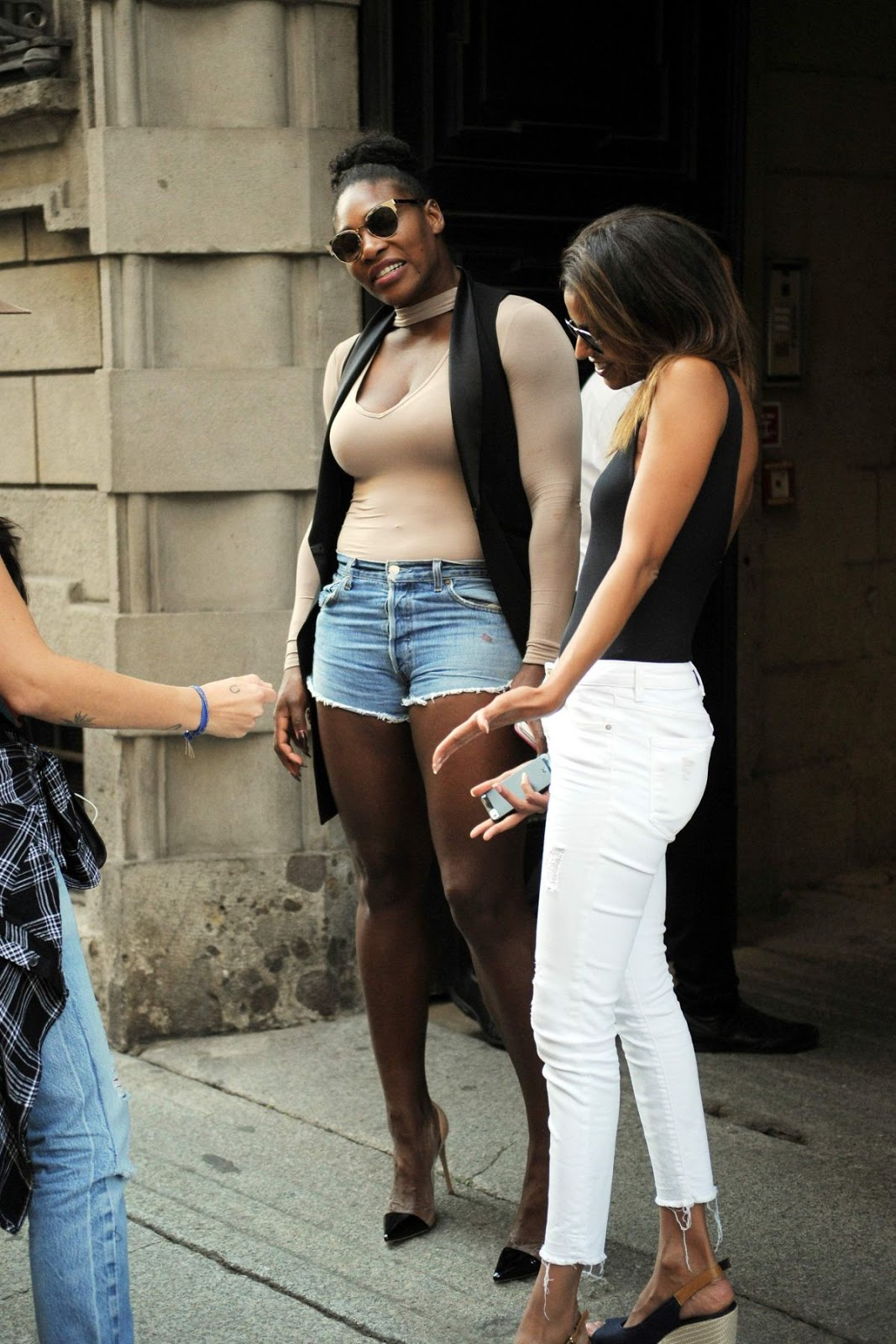 Serena Williams in Jeans Shorts