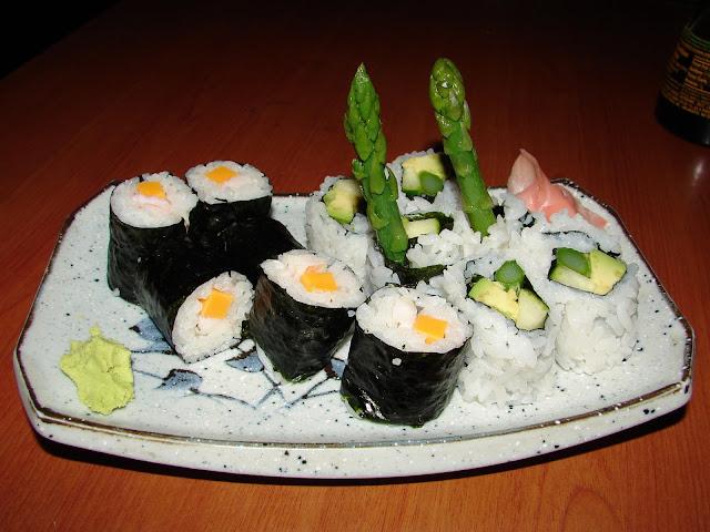 Japanese Maki Sushi rolls