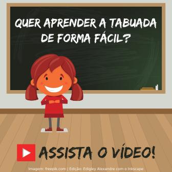Aprenda a Tabuada de forma fácil!