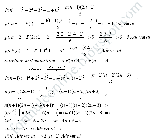 mathematical induction examples and solutions