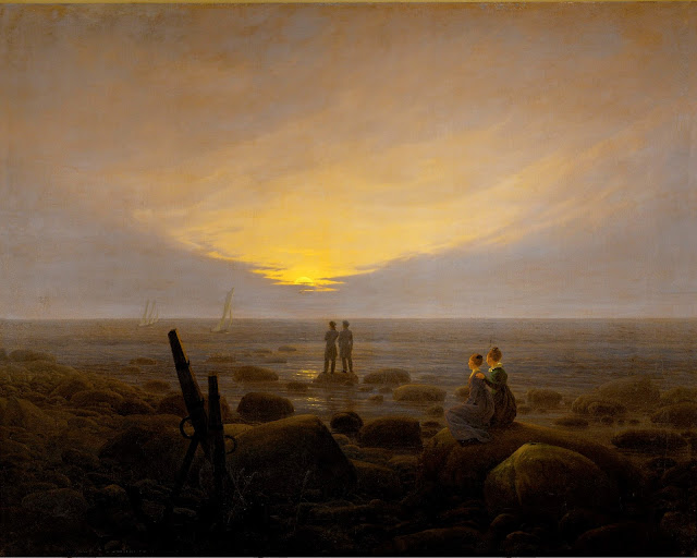 Opera romantica Caspar David Friedrich, Moonrise over the Sea