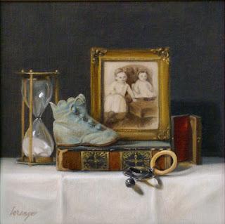 vintage, antique, hour glass, baby shoe