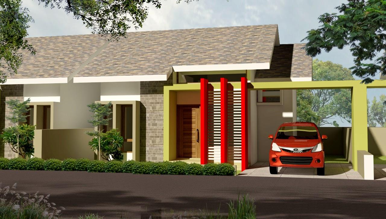 gambar model  desain rumah  minimalis  modern terbaru  type 45