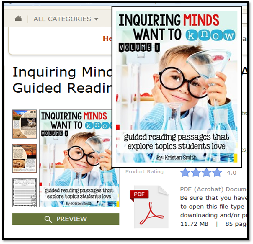 http://www.teacherspayteachers.com/Product/Inquiring-Minds-Want-To-Know-A-Guided-Reading-Resource-1163099