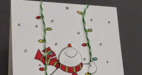 Stamping With Loll Snowman On A Swing