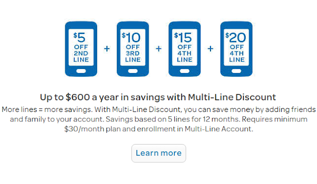 GoPhone Multi-Line Discount