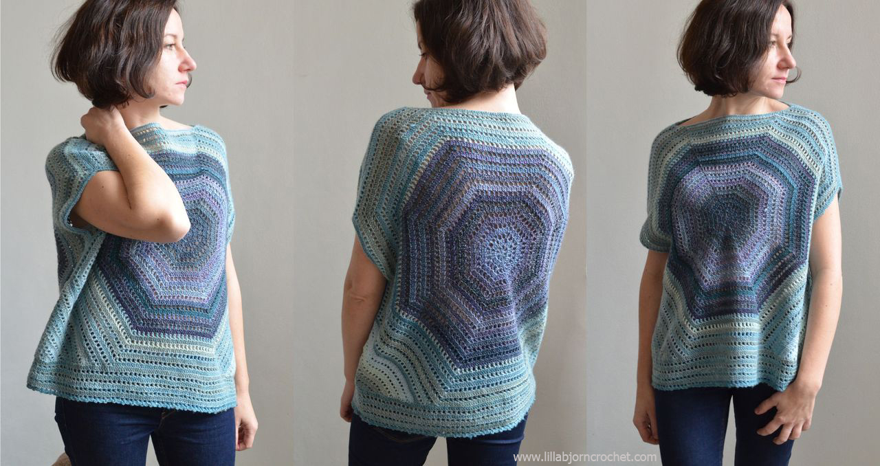 Lilla Bjorn off-shoulder sweater - free crochet pattern by www.lillabjorncrochet.com