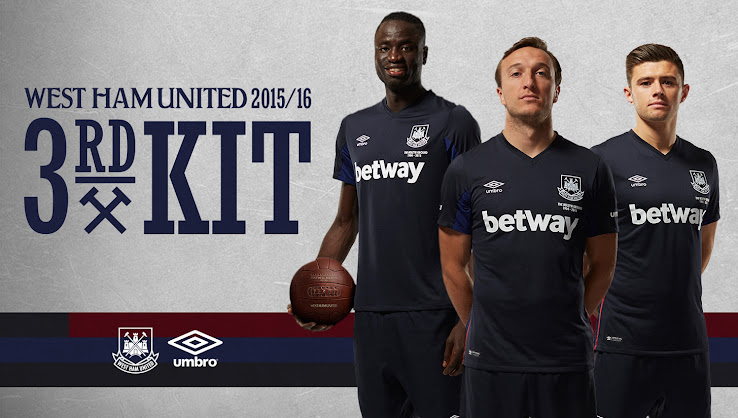 Both the new West Ham United 2015-2016 Away Kit and the West Ham 15-16 Home  Kit draw inspiration from iconic designs worn in the first years at Upton  Park ... 83fa85ca0