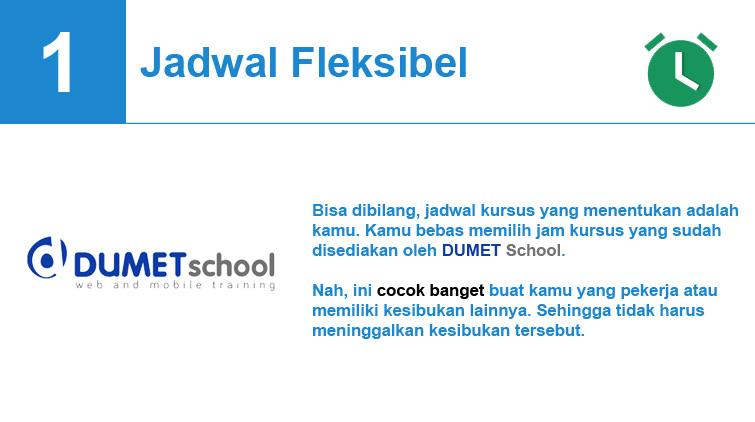 jadwal fleksibel dumetschool