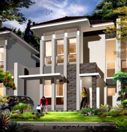 desain rumah modern 2 lantai   design rumah minimalis