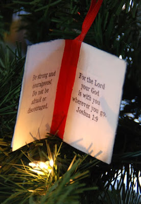Holy Bible Christmas ornament