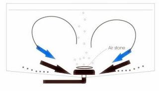 Sistem aerator kolam koi