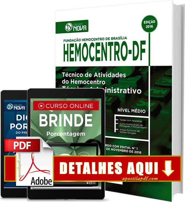 Apostila Hemocentro DF 2016 Técnico Administrativo Impressa