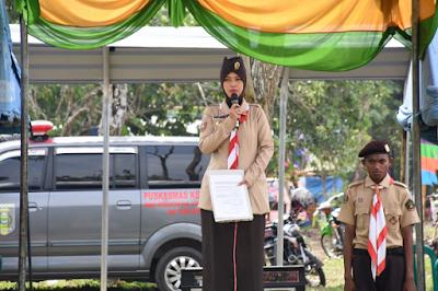 Bupati Chusnunia Buka Kemah Konservasi Saka Wana Bakti Kwartir Cabang Lampung Timur
