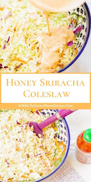 Honey Sriracha Coleslaw