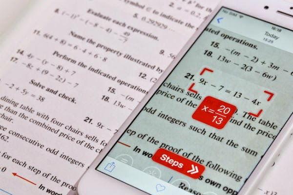 تطبيق لحل المسائل الرياضية باستخدام كاميرا الهاتف PhotoMath
