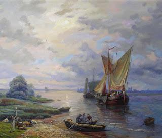pinturas-paisajes-veleros-y-barcos
