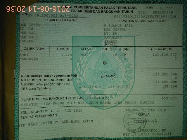 Identitas Awal dan Jenis Tanah yang akan dibeli menjadi Waqaf Produktif Muhammadiyah