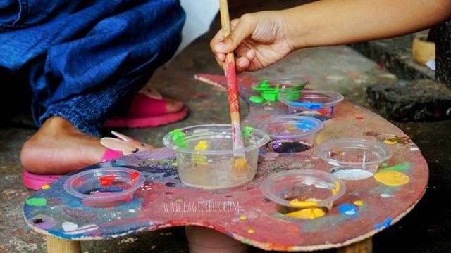 Workshop Melukis di Payung Lukis Ngudi Rahayu Juwiring Klaten