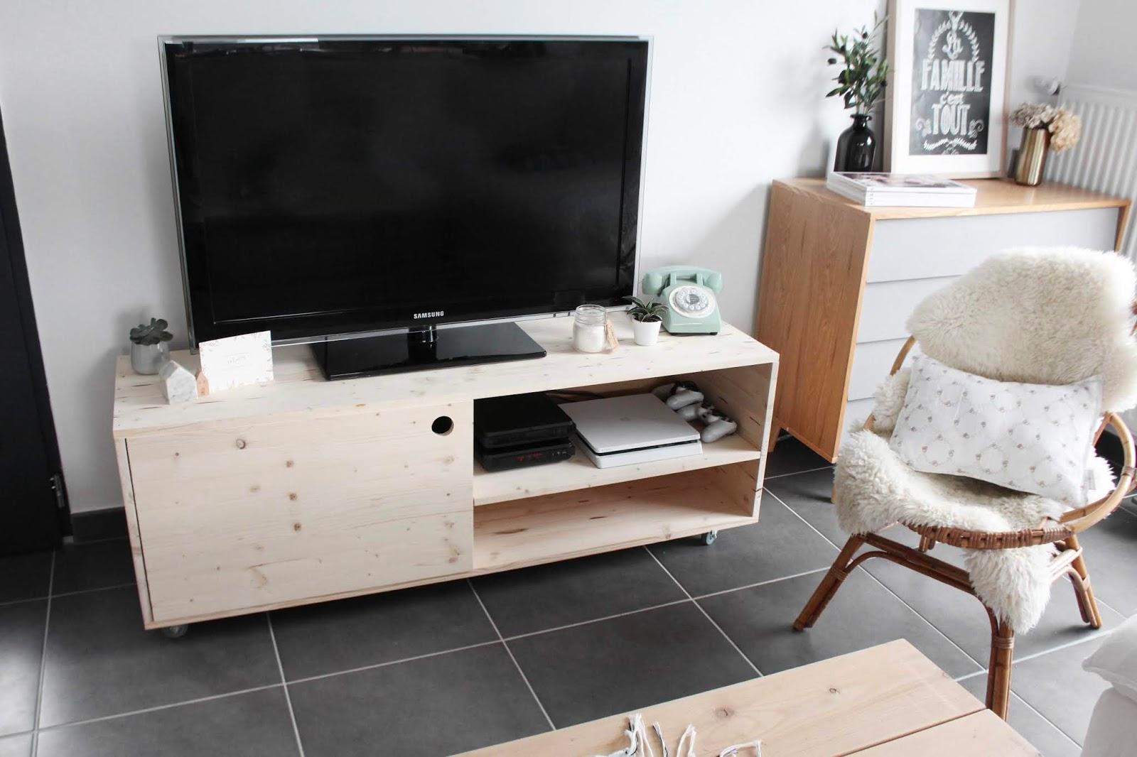 diy meuble tv leroy merlin lola