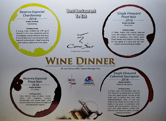 Kl Wine Pairing Dinner Menu