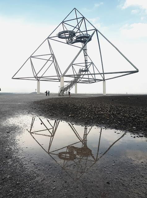 Tetraeder art installation in Dottrop, Ruhr gebiet, NRW