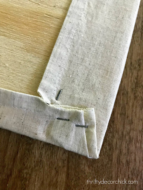 How to use staple gun with fabric