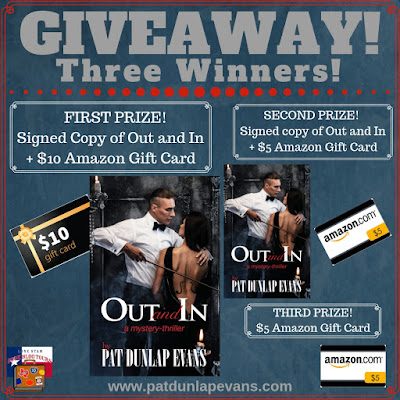 Out and In giveaway graphic