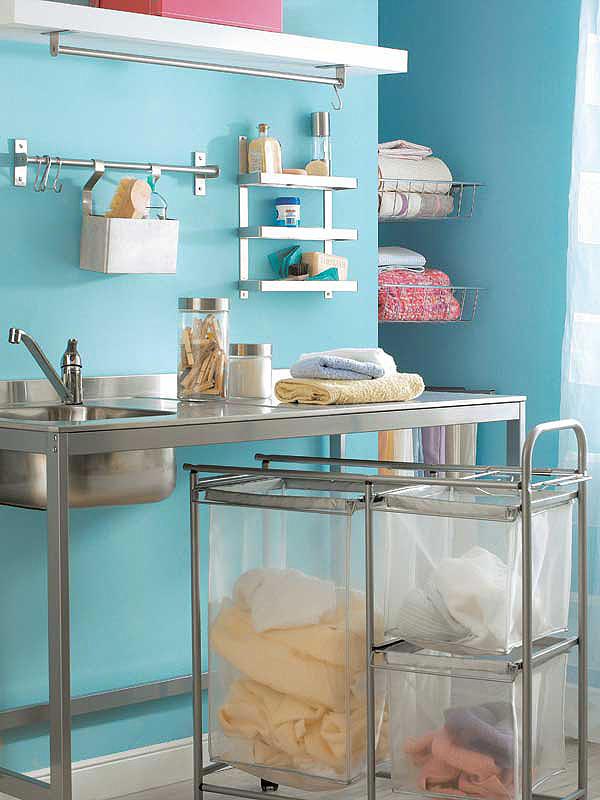 Um espa o para lavar e secar decora o e ideias for Cuarto de lavado ikea