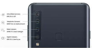 Samsung Galaxy A9  with four rear cameras
