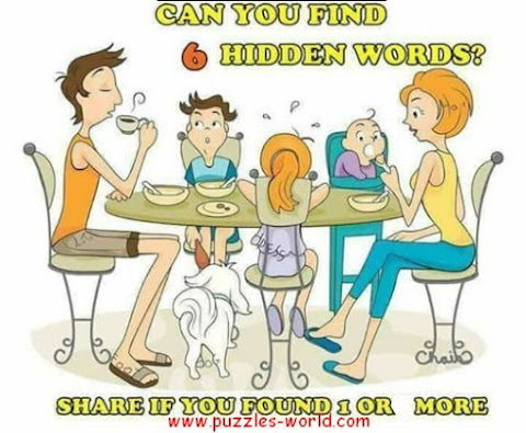 Can you find 6 Hidden words ?