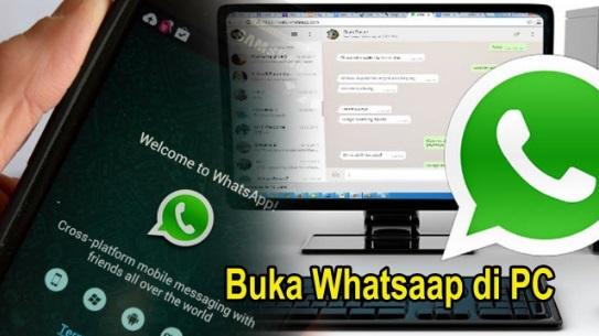 buka whatsapp di PC atau laptop
