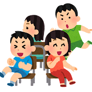 椅子取りゲームのイラスト