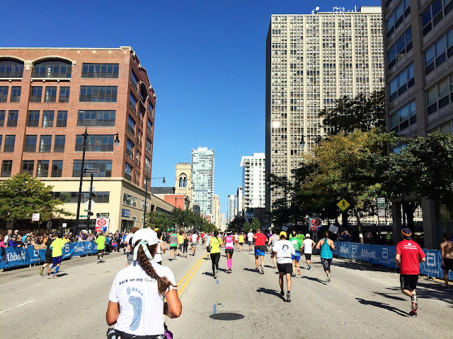 Chicago Marathon 25 mile mark
