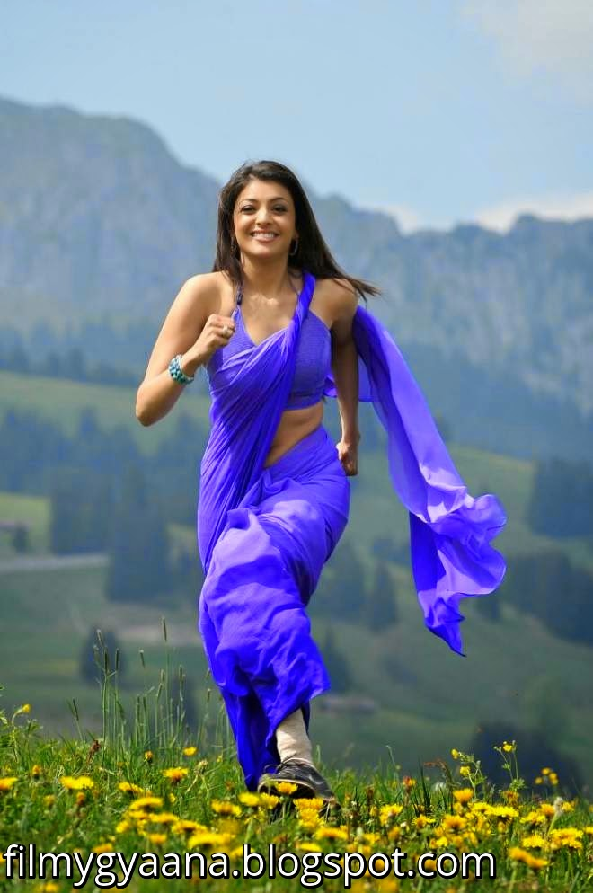 10 Amazing Kajal Agarwal Navel Show In Low Waist Saree Pics