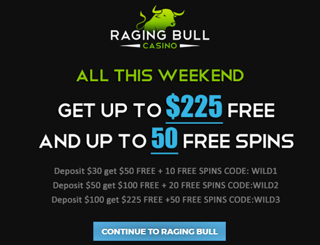 Weekend Bonus at Raging Bull casino