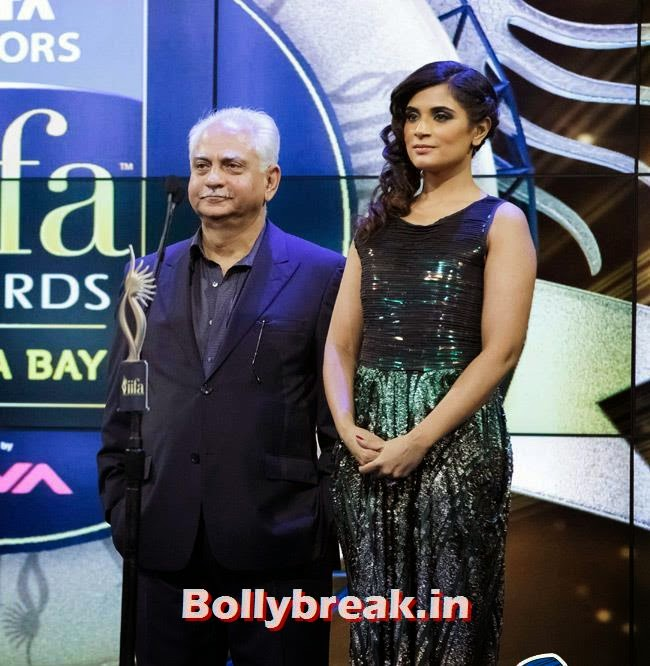 Ramesh Sippy and Richa Chadda, IIFA Awards 2014 Pics
