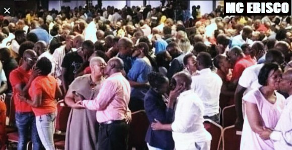 Pastor Ask Members To Randomly Kiss Each Other During Church Service
